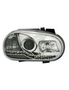 LAMPY PRZEDNIE DAYLINE VW GOLF 4 97-03 CHROM