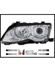 LAMPY BMW E46 S/T 01-05 ANGEL EYES CCFL H7/H7 CHROM