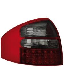 LAMPY TYLNE LED AUDI A6 97-04 SEDAN RED SMOKE