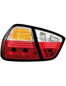 LAMPY TYLNE DIODOWE BMW E90 LIM. 05-08 RED WHITE