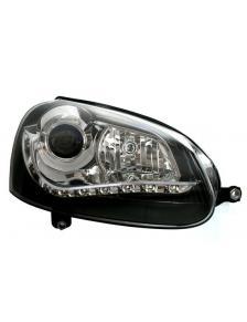 LAMPY PRZEDNIE DAYLINE VW GOLF V 03-09 CZARNE