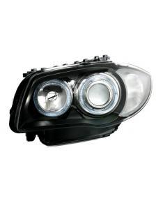 LAMPY PRZEDNIE ANGEL EYES BMW E87 E81 04-07 CZARNE