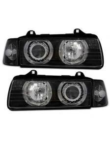 LAMPY PRZEDNIE. A.E. BMW E36 91-98 4D BLACK