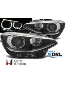 LAMPY BMW F20 / 21 11-12.14 AE TRUE DRL BLACK