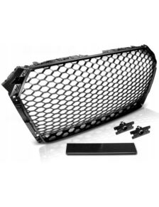 GRILL AUDI A4 B9 15- BLACK RS-STYLE