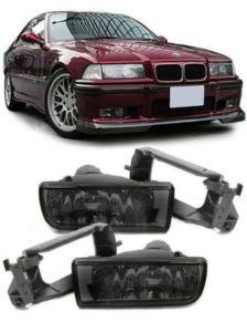 HALOGEN BMW E36 91-98 BLACK SMOKE CLEAR