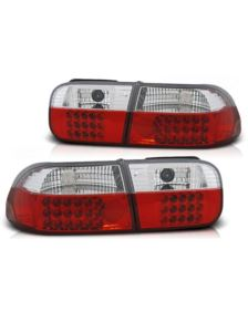 LAMPY TYLNE  LED HONDA CIVIC 91-95 2-4 D RED WHITE