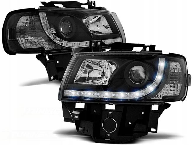 LAMPY PRZEDNIE DAYLINE VW T4 96-03 CZARNE