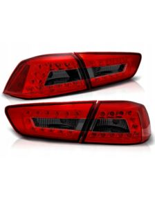 LAMPY MITSUBISHI LANCER X SEDAN 08-11 RED SMOK LED
