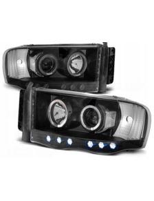 LAMPY PRZEDNIE  DODGE RAM 02-06 BLACK