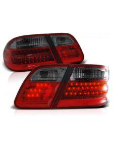 LAMPY DIODOWE MERCEDES W210 95-02 RED SMOKE LED