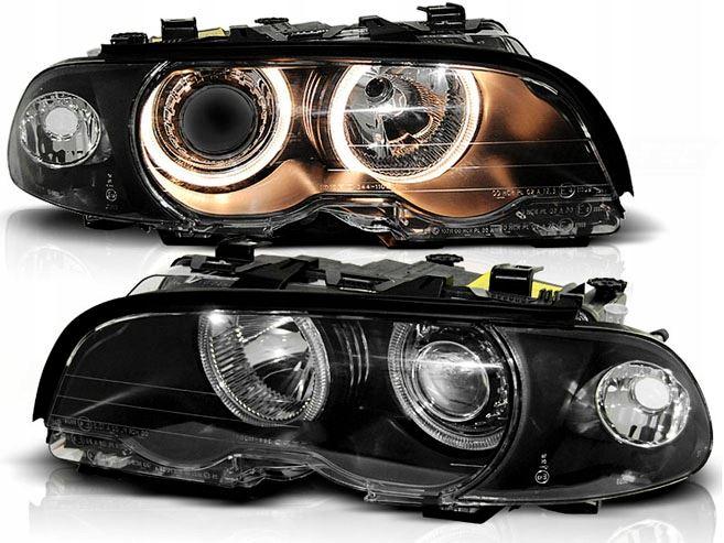 LAMPY ANGEL EYES BMW E464/99-8/01 CZARNE CABRIO COUPE