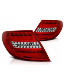 LAMPY TYLNE LED MERCEDES W204 07-10 RED WHITE