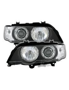 LAMPY A.E. BMW E53 X5 CZARNE H7/H7 00-03