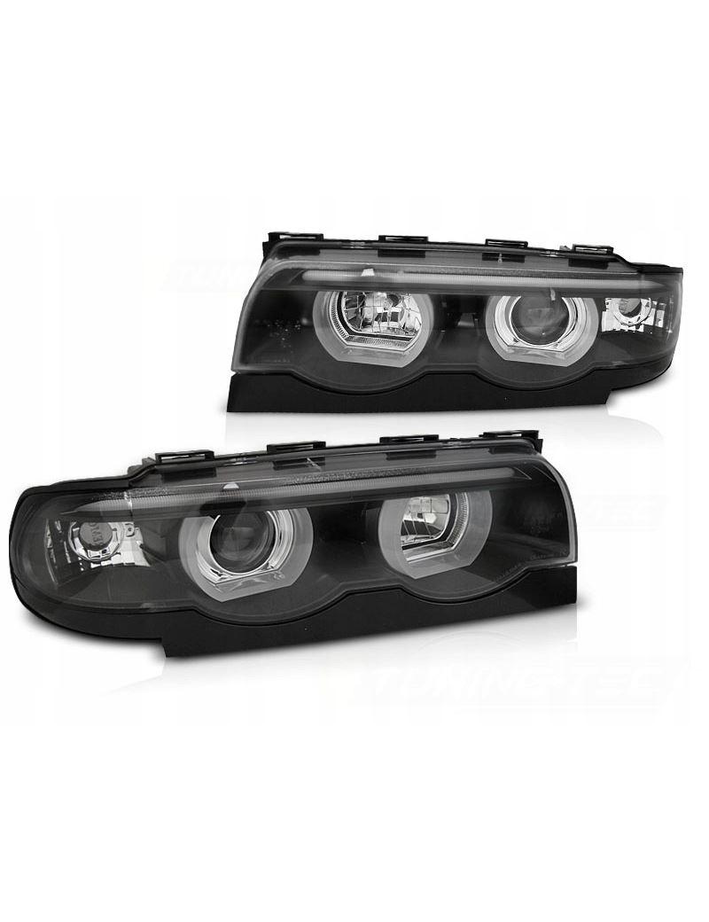 LAMPY REFLEKTORY BMW E38 94-01 RINGI 3D LED BLACK