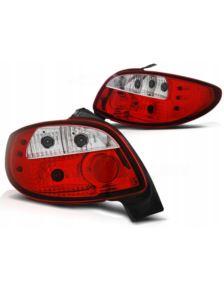 LAMPY TYLNE NOWE PEUGEOT 206 98- RED WHITE