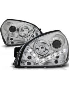 LAMPY HYUNDAI TUCSON 04-10 SOCZEWKI CHROME LED