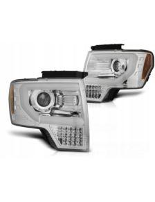 LAMPY PRZEDNIE FORD F150 MK12 08-14 LED CHROME