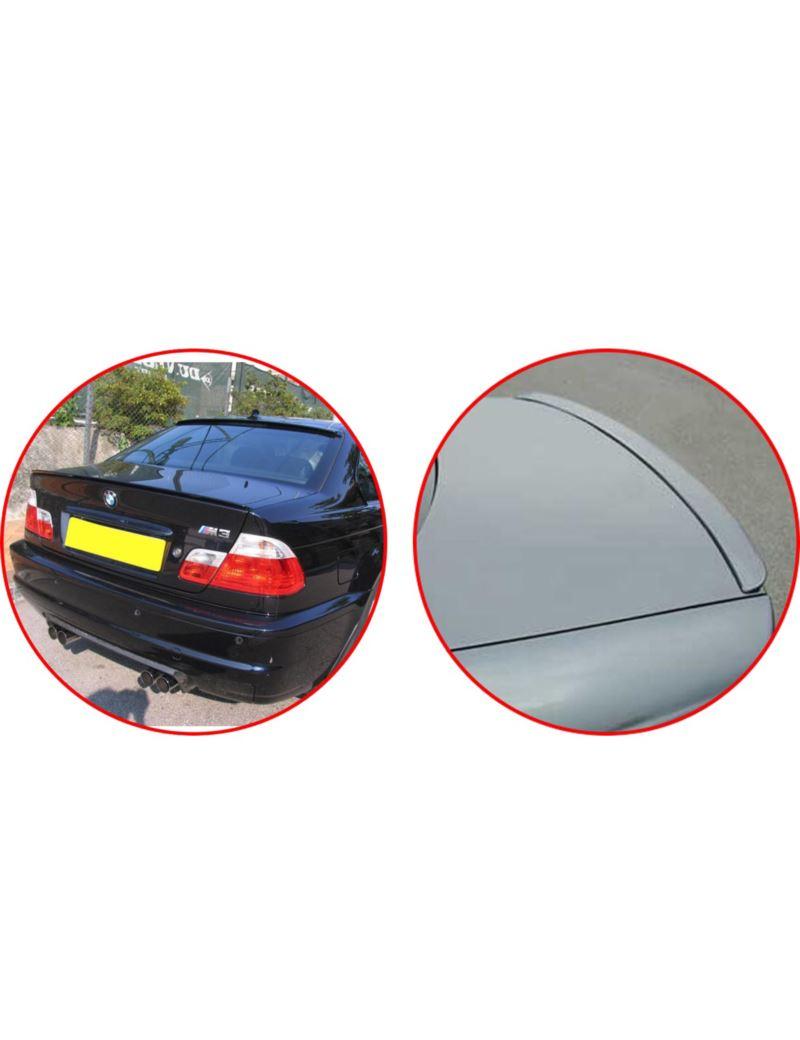 SPOILER NA KLAPĘ BMW E46 99-02 COUPE GLOSSY BLACK