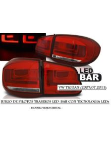 LAMPY VW TIGUAN 07-07.11 RED WHITE LED BAR