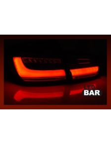 LAMPY LED BMW F30 11-18 BLACK SMOKE BAR SEQ DYNAMI