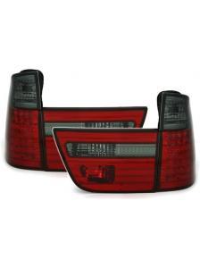 LAMPY TYLNE DIODOWE BMW X5 E53 8/99-10/03 RED SMOKE