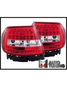 LAMPY LED AUDI A4 B5 SEDAN CZERWONE LDAU47