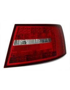 LAMPY TYLNE LED AUDI A6 4F SEDAN RED-WHITE  6PIN