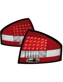LAMPY TYLNE DIODOWE AUDI A6 97-04 RED WHITE