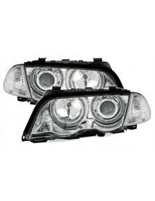 LAMPY PRZEDNIE ANGEL EYES CCFL  BMW E46 98-01 SEDAN CHROM
