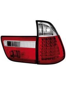 LAMPY TYLNE DIODOWE BMW X5 E53 8/99-10/03 RED WHITE