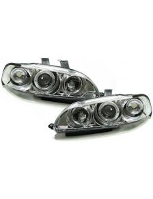 LAMPY HONDA CIVIC 09.91-08.95 4D ANGEL EYES CHROM